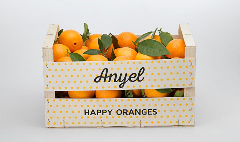 Diseño Packaging Valencia Caja Naranjas